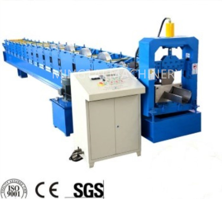 Full automatic downspout and half round rain gutter making machine