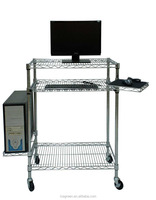 Househould Chrome Wire Computer Rack