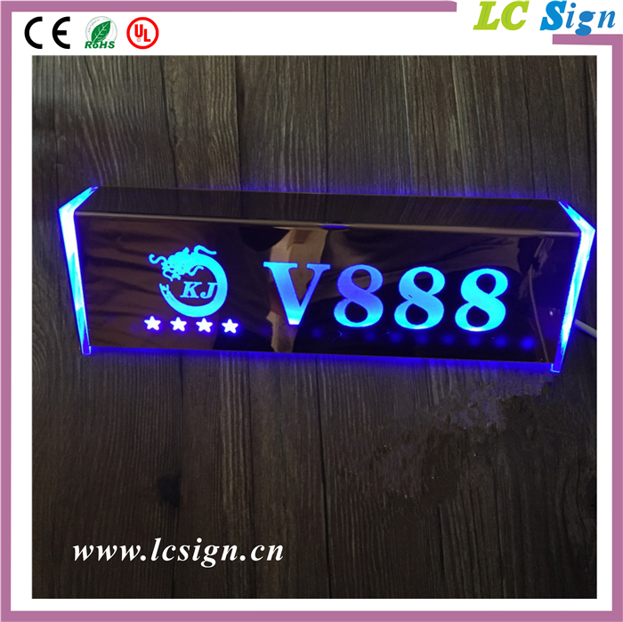 Factory price stainless steel light up letter led house door number sign