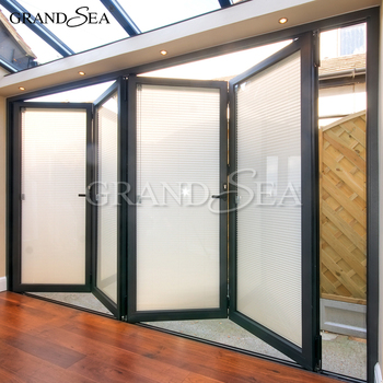 Aluminium Internal Folding Patio Doors With Shutter