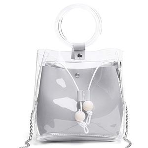 Hot sell Waterproof Transparent PVC Purse Cross body bag for Girls Women