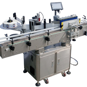 Automatic top side sticker machines for wine bottles, Bottle Adhesive Labeling Machine, Glass Bottle Sticker Labeler Machine