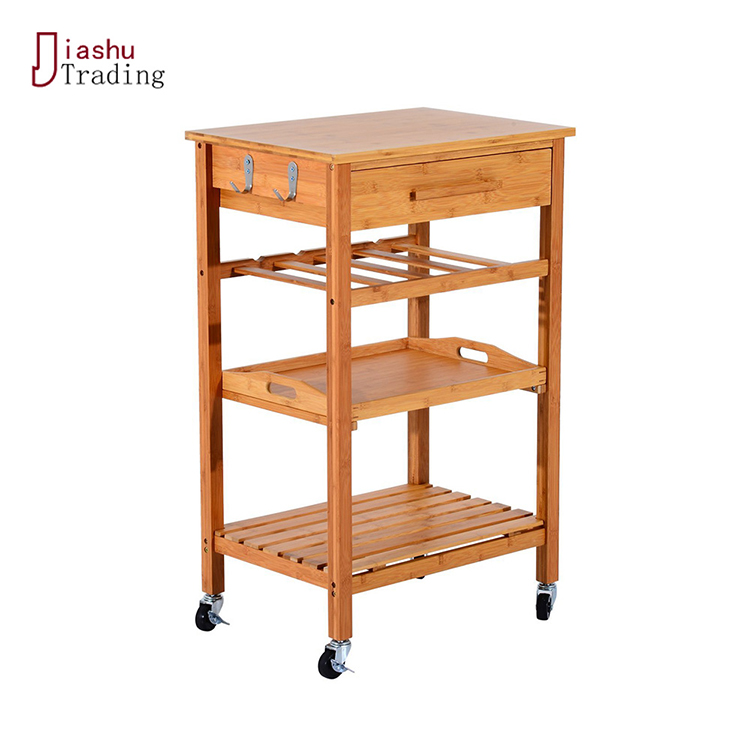 Space Saving Foldable Solid Fashion Kitchen Trolley Cabinet