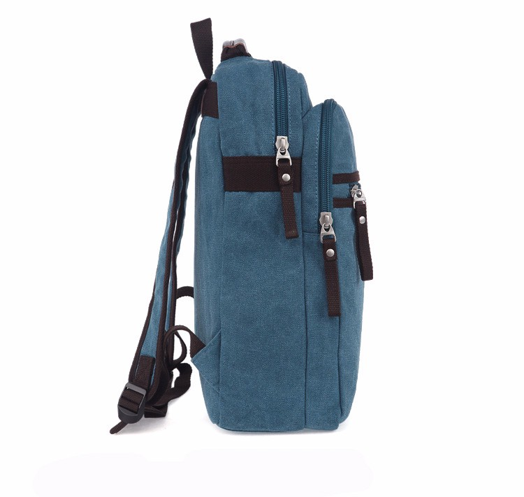 Newest fashionable college canvas backpack wholesale for women and men made in China