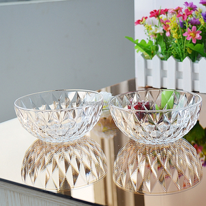 Diamond clear high quality salad glass bowl 2pcs sets for gifts offerd by Bengbu Cattelan Glassware