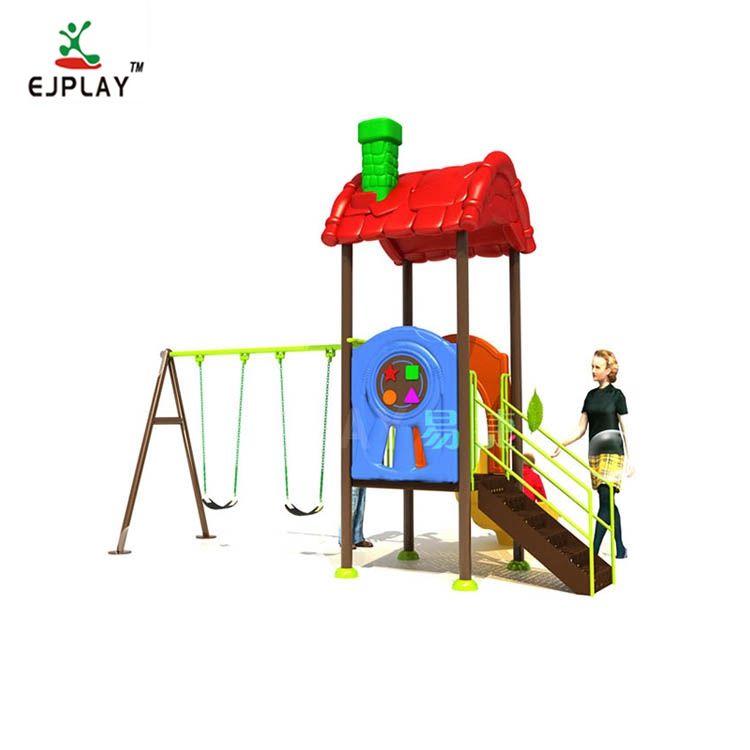 China Manufacturer Children Plastic Outdoor Playground Slides With Swing Set For Park