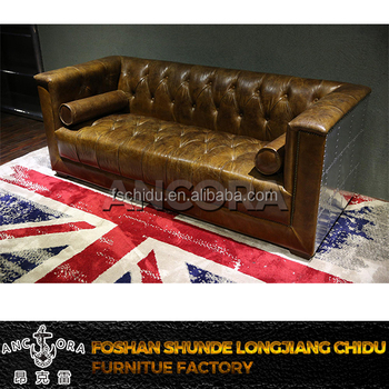 Best Seller American Antique Furniture Leather Sofa,Vintage Style  Sofa,Leather Living Room Sofa A125 - Buy Germany Living Room Leather  Sofa,Old Style ...
