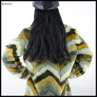 Fantastic Design Fashion Ladies High Quality Warm Long Pattern Faux Fur Coat