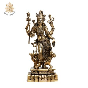 Hindu God Radha Krishna brass statue for sale NTBS-752Y