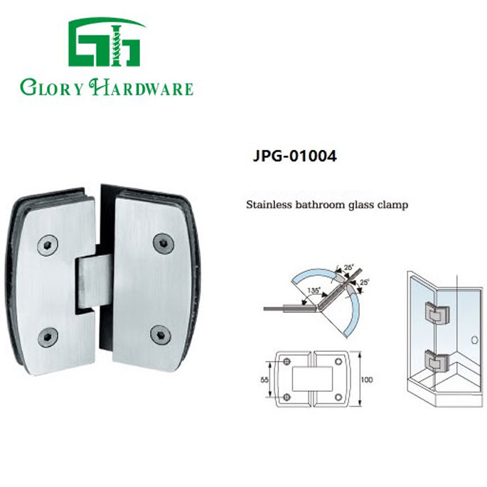 grade professional glass door hinge for round pipe