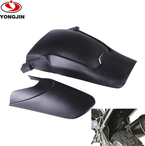 Black Front and Rear Tire Hugger Fender Mudguard Extensions For B MW R1200GS ADV 2013-2016