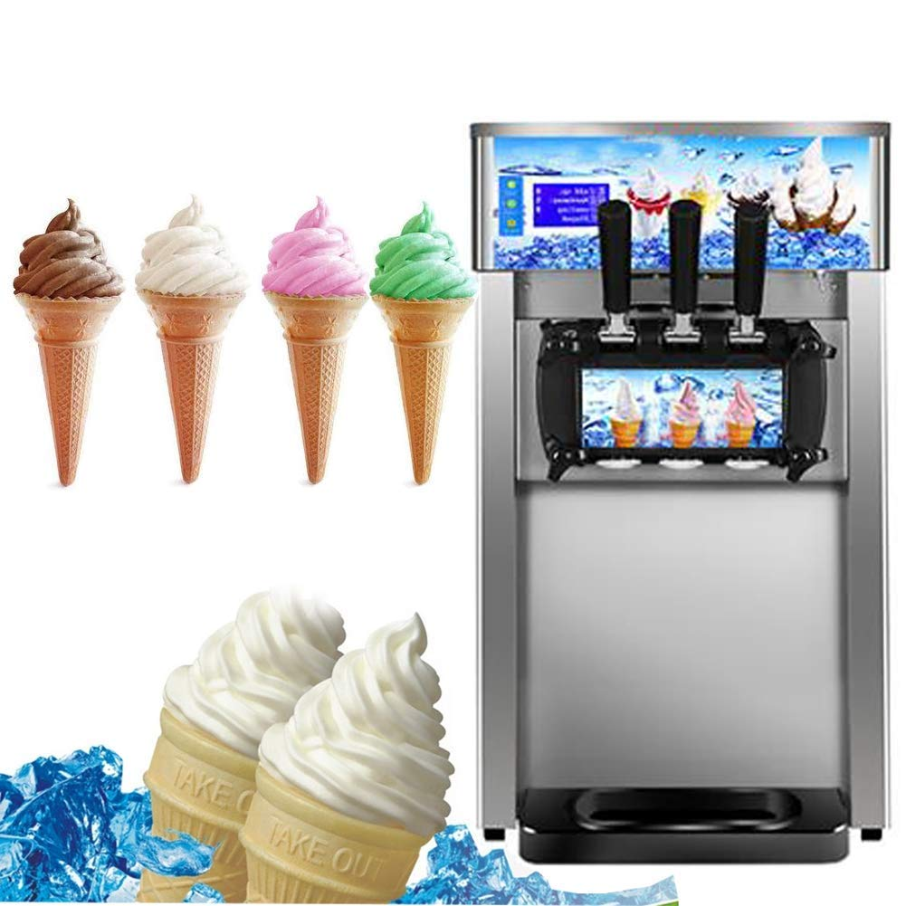 Get Quotations Zinnor Stainless Steel Ice Cream MachineCommercial Small Desktop Soft Making Machine