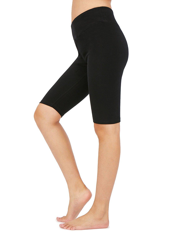 0b2fc37bb8 Get Quotations · Weintee Women's Cotton Spandex Yoga Shorts Workout Gym  Shorts