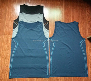 Mens sleeveless seamless functional sports singlet