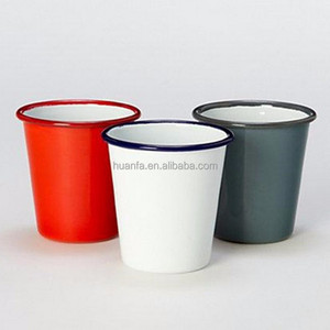 Classical Customized Design Logo Printed Enamel Tumbler,Enamel Short Cups
