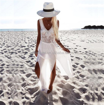 White Breakaway Coverup beach dress party wear beach women long wear dress