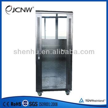 Server Cabinet With Tempered Glass Front Door 27u - Buy Server Cabinet ...