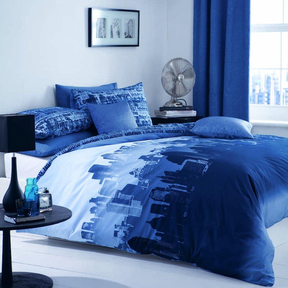 Buy King Size Duvet Cover Set Blue Royal Blue London