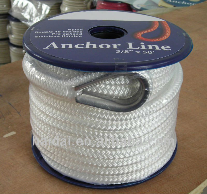 The most popular nylon double braided anchor rope