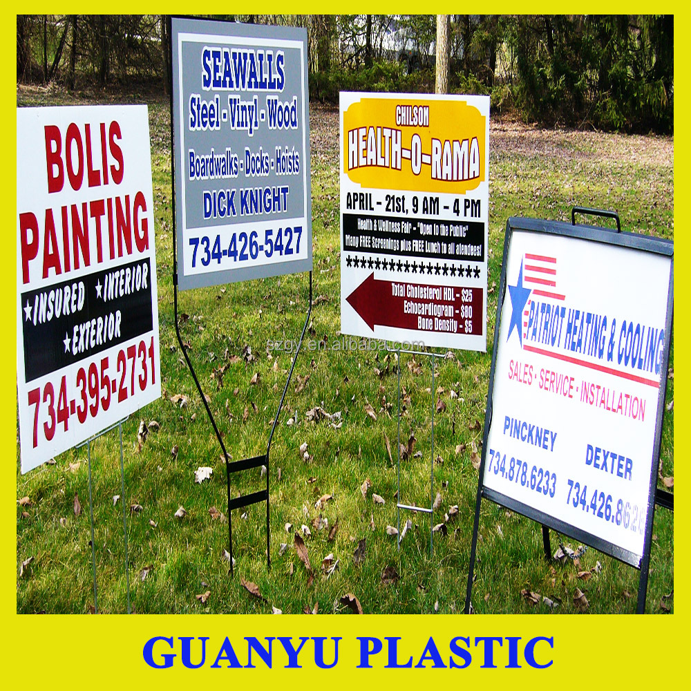 PP Polypropylene Plastic Coroplast Yard Signs, PP Hollow Sheet for Yard Signs