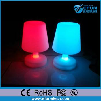 Decorative Illuminated Mood Light Cordless Led Color Changing Table