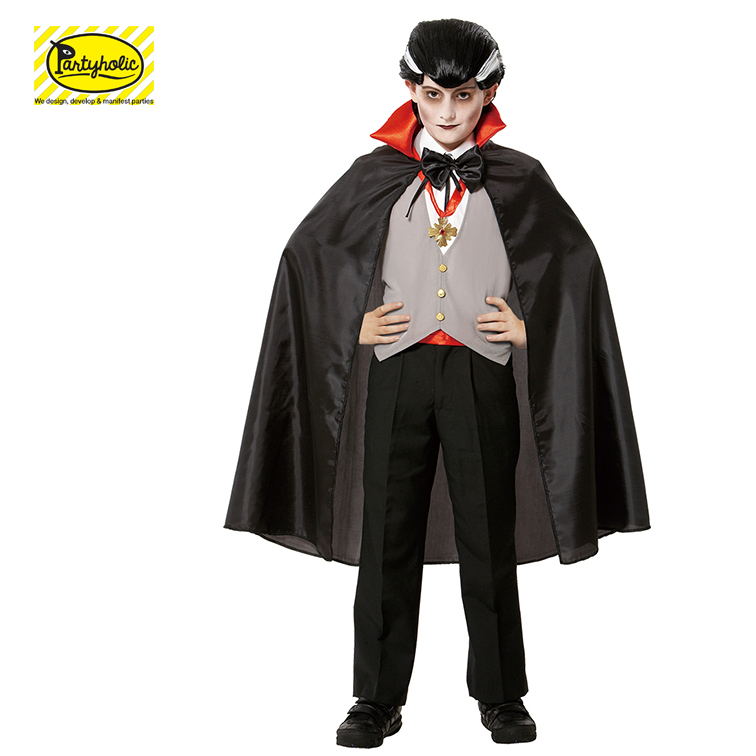 Halloween party cosplay outfits Zwart Vampire Cape