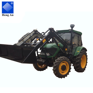 Chinese 4x4 compact 105hp 4wd farming tractor with loader and backhoe