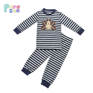 black stripes knit cotton baby boy clothes toddler thanksgiving turkey applique clothing boys long sleeve boutique outfit
