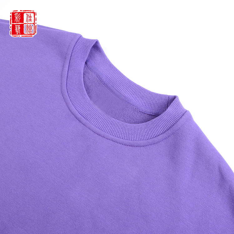 OEM accept premium quality solid color pullover crewneck basic knitted sweatshirt unisex blank