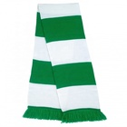 custom football soccer fan striped blank plain double knit scarf pattern