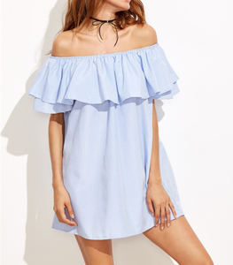 off shoulder can Embroidered Backless Bardot Dress