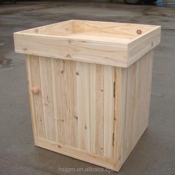 Outdoor Wooden Garden Tool Storage Box With Planter Buy Storage