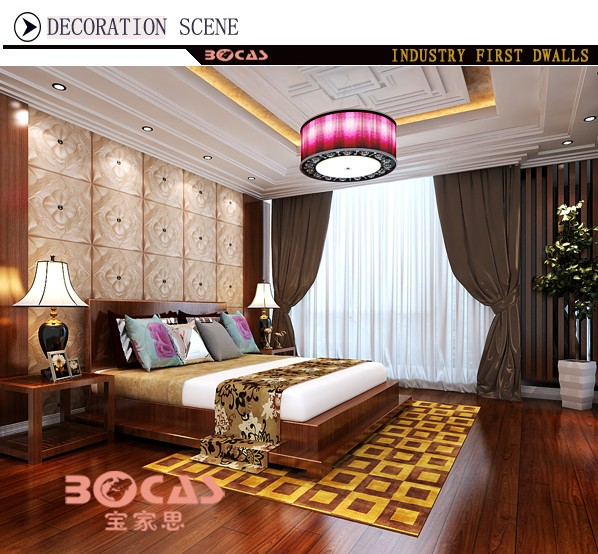 2017 Cheap Interior Wall Paneling Ceiling Decoration 3d Wallpaper 3d Leather Wall Panel For