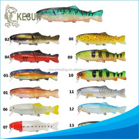 multi jointed 7.5inch 95g 9 section lifelike swimbait hard lure