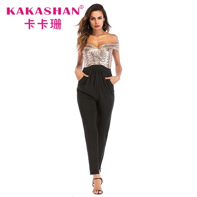 daf260295fa6c Design Women Sexy Fancy Casual Plus Size Jumpsuits