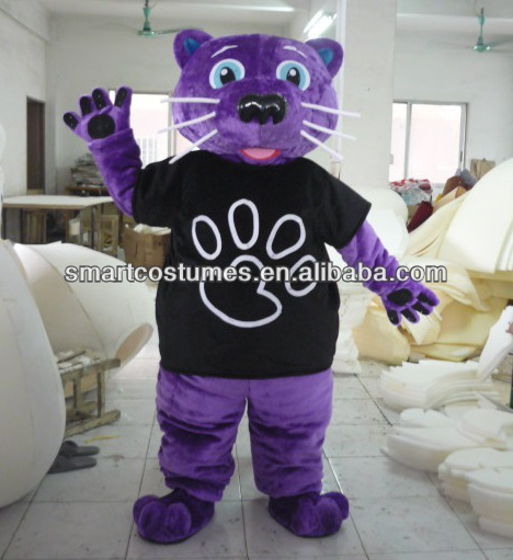 purple panther mascot costume for adults