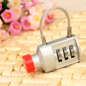 Bottle locks zinc alloy luggage cable lock with password