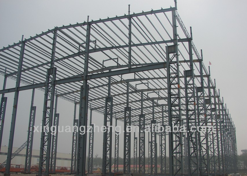 Lightweight Easy Install Prefab Steel Metal Structures Warehouse