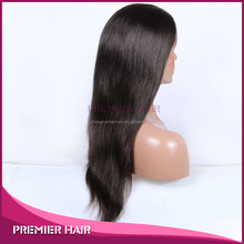 "Fashional Rihanna Wig 22"" #1B Silky Straight, Natural Hairline, Chinese Remy Hair Lace Front Wig"