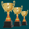 gold trophies for winner,sport award gold trophy,custom metal plates trophy
