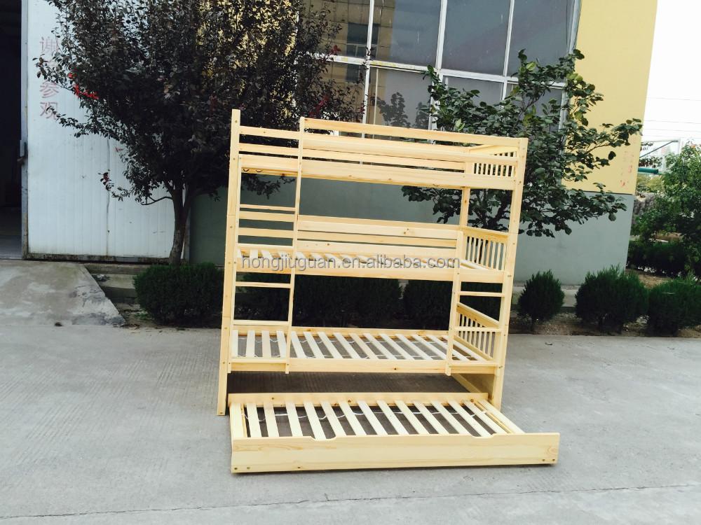lit superpos 233 avec gigogne bois de pin moderne apparence 3 trois niveaux superpos 233 s