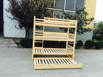 Etagenbett Dreifach : Dreifach etagenbett mit trundle kiefernholz