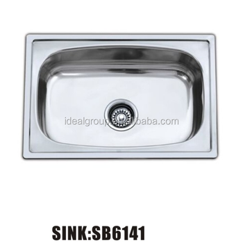 Size Design Price Stainless Steel Mini Single Bowl Kitchen Sink 6141 61 41 Smalll Portable