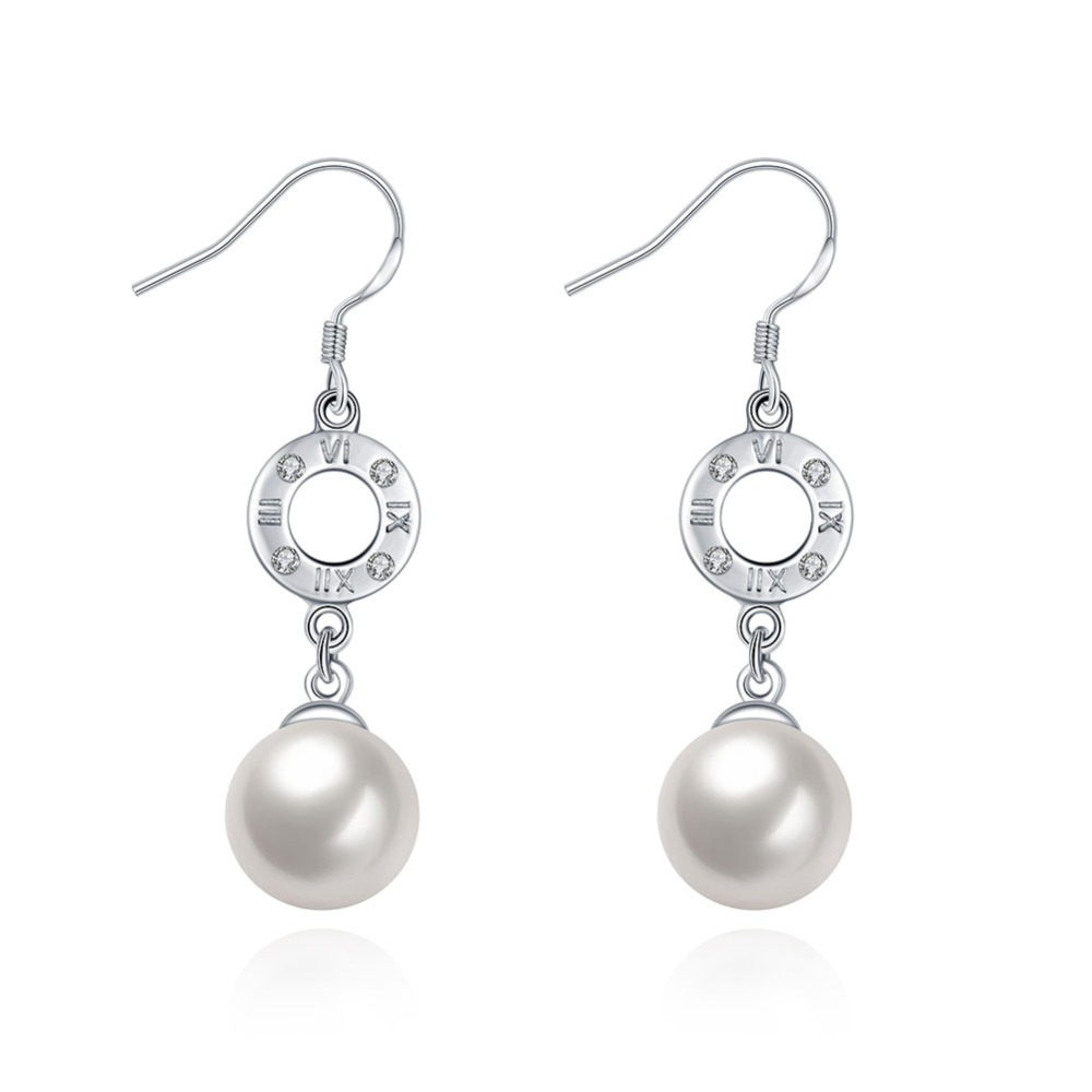 925 Jewelry Single Shell Pearl Pendant Fine Sterling Silver Drop Earrings With CZ Diamond