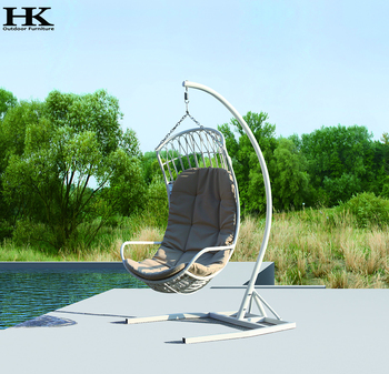 New Cheap Garden Cheap Bali Rattan Furniture Egg Hanging Chair Pe Rattan Cocoon Chair
