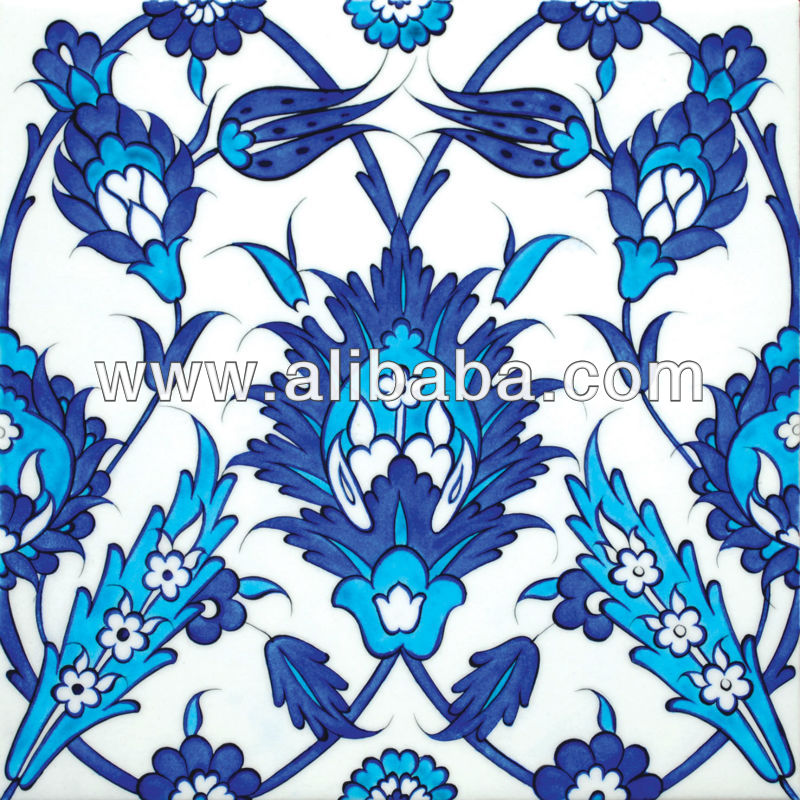 Iznik ceramic Tile floral design