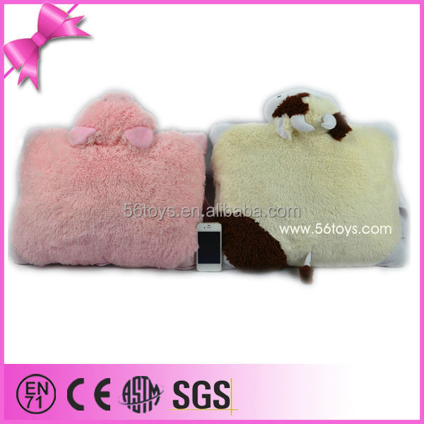 Super Soft PV <strong>Plush</strong> With Inside Blanket Packing Best Quality Nice Workmanship Customized Soft <strong>Plush</strong> Animal Shaped Pillow