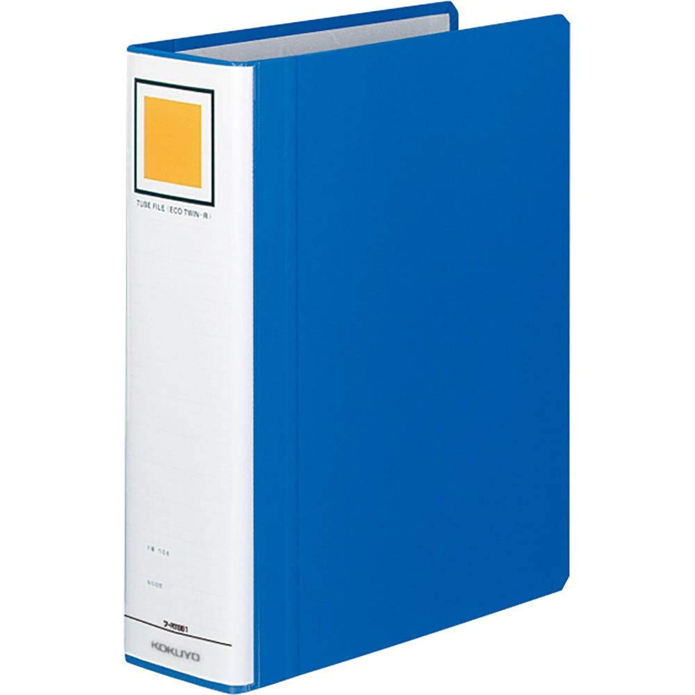 About 600 sheets for Kokuyo mass-term and long-term storage for pipe type file Eco-Twin R (double door) B5 length (60mm) blue staff-RT661B (japan import)