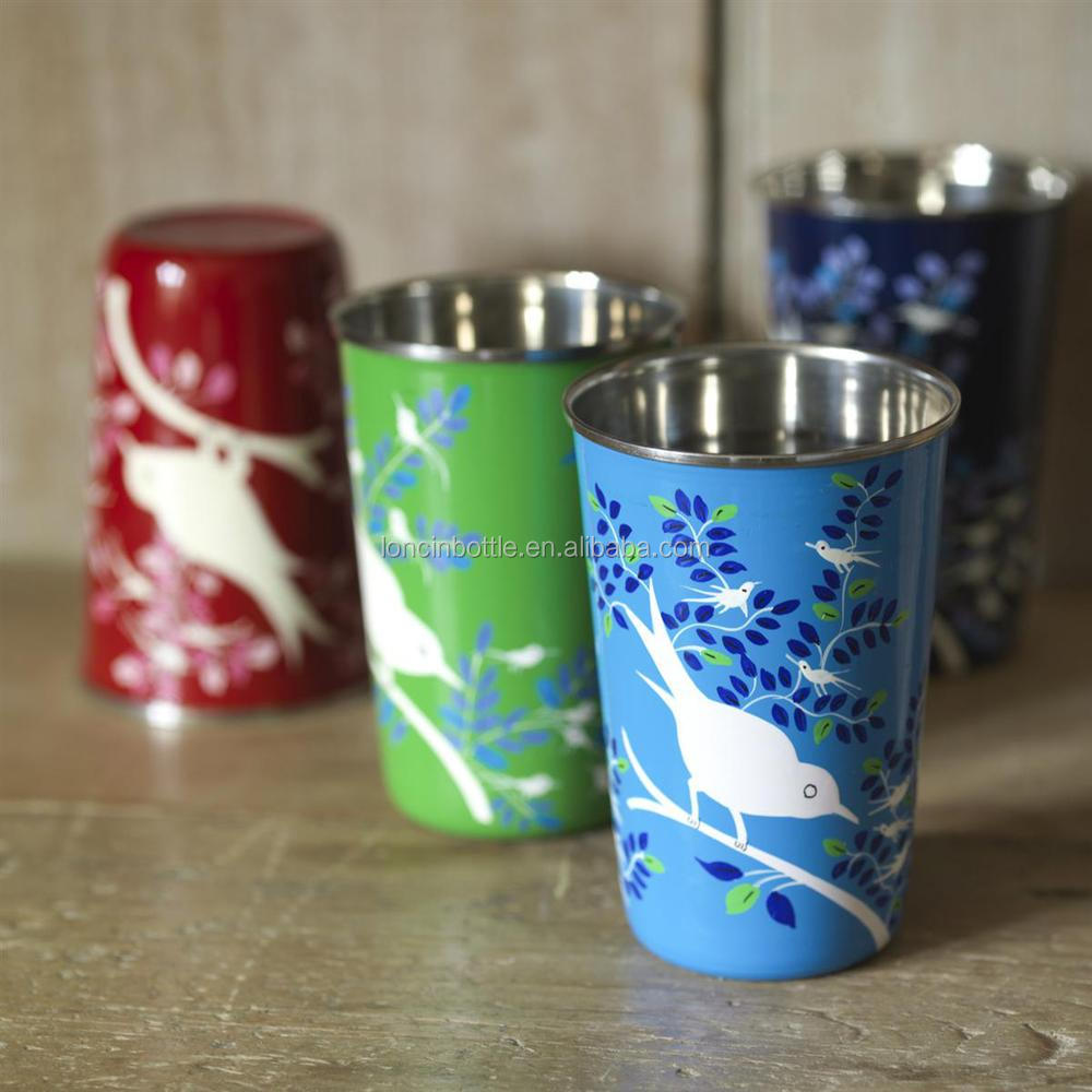 Full color printing company - Enamelware Drinking Cups Klean Kanteen Stainless Steel Pint Cup Full Color Printing Shot Glass