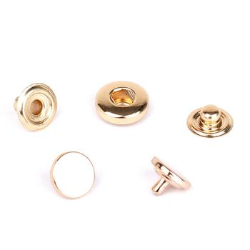 Factory Price Custom Round 10mm Shiny Lt Gold Metal Strong Snap Button for Garment